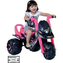 Mini Moto Elétrica Infantil Com Marcha Teen Monstros - Rosa - Biemme