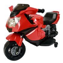 Mini Moto Elétrica Infantil Importway BW044 com Luzes e Som Vermelha -