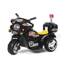 Mini Moto Eletrica Infantil Policia 6V 18W Preta BW006PT Importway -