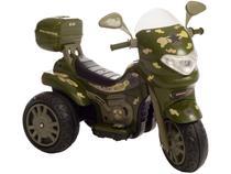 Mini Moto Elétrica Infantil Sprint Turbo Militar - 2 Marchas 12V com Capacete Biemme