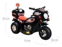 Mini Moto Elétrica Infantil Triciclo Elétrico BZ Cycle Preto com Músicas e Luzes BARZI MOTORS -