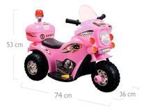 Mini Moto Elétrica Infantil Triciclo Elétrico BZ Cycle Rosa com Músicas e Luzes BARZI MOTORS -