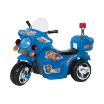 Mini Moto Elétrica Police BW006 - Azul - Importway