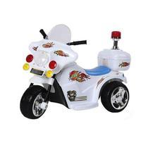 Mini Moto Elétrica Police BW006 - Branca - Importway