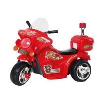 Mini Moto Elétrica Police BW006 - Vermelha - Importway