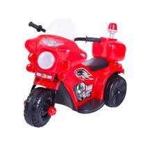 Mini Moto elétrica Police Vermelha - Unitoys