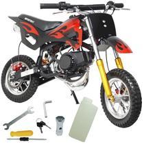 Mini Moto Infantil Gasolina 2 Tempos 49CC Cross Trilha Off Road Importway WVDB-006 Dirt -
