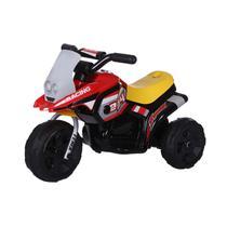 Mini Moto Triciclo Elétrico Infantil G204 Vermelho 6V Até 30 Kg Bel Brink -