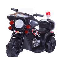 Mini Moto Triciclo Elétrico Infantil  Police Preto - Unitoys