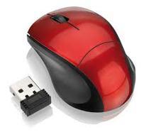 Mini Mouse Sem Fio Usb Pra Notebook Pc 1600dpi 10 M Wireless Vermelho - M10