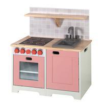 Mini Móvel Infantil Bancada de Cozinha com Pia e Fogão Branco Siena Móveis Branco -