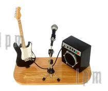 Mini palco amplificador e guitarra - Lojaloucospormusica
