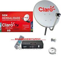 Mini parabólica Claro Tv Pré-Pago SD Mercantil  1 Receptores Digital + Antena 60 cm - visiontec