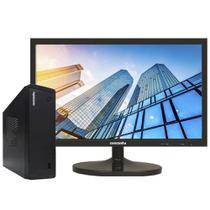 Mini Pc Concórdia Completo Com Monitor 19,5''  Processador  Intel Core Dual Core Memória 4gb Ssd 240gb Wifi -