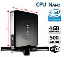 Mini PC Dual Core, 4GB, HD 500GB, Wifi com HDMI - K-mex