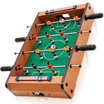 Mini Pebolim Totó Futebol de mesa 10x31x51cm Bolas e Placar - Click Urbano
