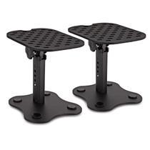 Mini Pedestal,suporte,estante de MESA P/ monitor De Referência c/ ajuste de altura (23,5 cm - 28 cm) - Aj Som Acessórios Musicais