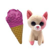 Mini Pelúcia Surpresa - Sweet Pet Cats - Pop Berry Cream - Toyng -