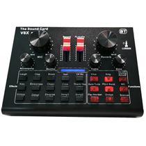 Mini Placa Mixadora Gravadora de Som V8X Pro Live Sound 15 Efeitos Sonoros GT956 - Lorben