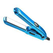 Mini Prancha de Cabelo MQ Pro Barber Titanium - Azul - Mq Professional