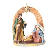 Mini Presépio Família Sagrada Cromus - Festabox