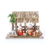 Mini Presépio Sagrada Família Natal Colorido - Cromus