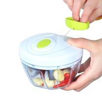 Mini processador de alimentos manual com 3 lâminas 123útil -