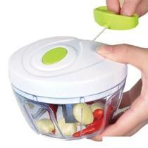 Mini Processador e Triturador de Alimentos Manual Verde - Kitchen