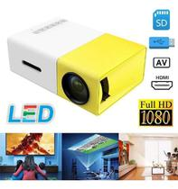 Mini Projetor Portátil Full Hd Led 600 Lumens Usb Sd Hdmi - Ybx