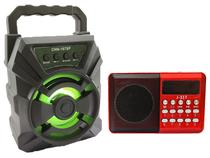 Mini Rádio Altomex Portátil Wireless e Caixa de Som Bluetooth Fm Usb Sd - Livstar