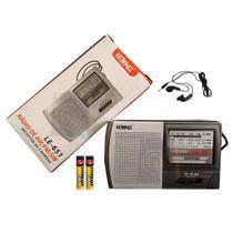 Mini Rádio de Bolso AM/FM/SW LE-651- Lelong + 2 Pilhas -