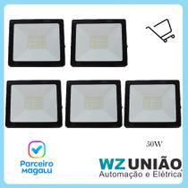 Mini Refletor LED 50W Kit com 5 unidades -