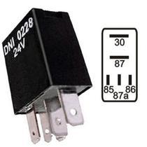 Mini relé auxiliar 5 terminais 24v 20/10a sem suporte mercedes benz atego, axor, o500, of, o - Dni