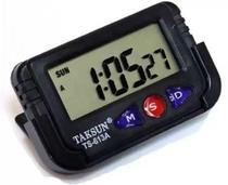 Mini Relógio Digital Portátil Carro e Mesa Cronômetro Despertador Data - Sunflower