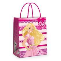 Mini Sacola P/Presente Papel Barbie Rosa 10,5X9,5Cm C/10 - Cromus