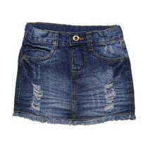 Mini Saia Jeans Infantil Juvenil Tam. 04 ao 16 - BORE