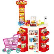 Mini Supermercado Infantil 30 Peças Com Carrinho De Compras - Importway