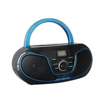 Mini System Boombox Bluetooth com Leitor de CD Azul Bivolt - Leadership - Bomber