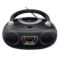 Mini System Boombox Bluetooth com Leitor de CD Preto Bivolt - Leadership - Bomber