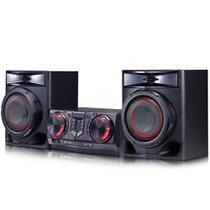 Mini System LG CJ44 XBoom 440W RMS Multi Bluetooth Dual USB Entrada para Pendrive Karaokê Auto DJ -