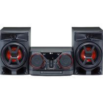 Mini System LG RMS Bluetooth USB Entrada Auxiliar Auto DJ CK43 Preto -