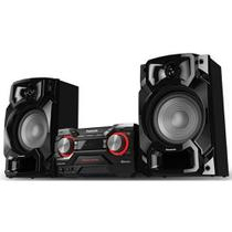 Mini system panasonic 580w bluetooth cd usb - sc-akx440lbk - Panasonic  audio video