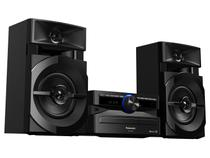 Mini System Panasonic Bluetooh USB MP3 CD Player - Rádio FM 250W 2 Caixas e Subwoofer SC-AKX100LBK