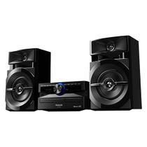 Mini System Panasonic SC-AKX100LBK Preto, 250W RMS, USB, Bluetooth, Wireless Media, Max Juke, Bivolt