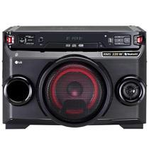 Mini System Torre XBoom Festa OM4560 Bluetooth, 1 CD, 1 USB, MP3, Karaokê, Sound Sync Wireless, 200W RMS - LG -