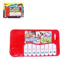 Mini teclado a pilha infantil piano musical com som criança mickey mouse - Etitoys