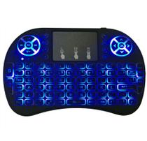 Mini Teclado Air Mouse Touch Sem Fio Tv Box Wireless com Luz Backlit - Importado