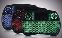 Mini Teclado Air Mouse Touch sem Fio Wireless com Led -