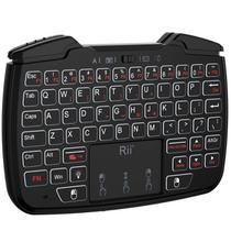 Mini Teclado Bluetooth 3 em 1 Sem Fio Windows Android PS3 Teclado Mouse e Joystick Para Jogos Botão Para Alternar Modo Teclado e Modo Jogos - Rii