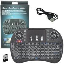 Mini Teclado Controle Remoto p/ Smart Tv e Pc - Backlit